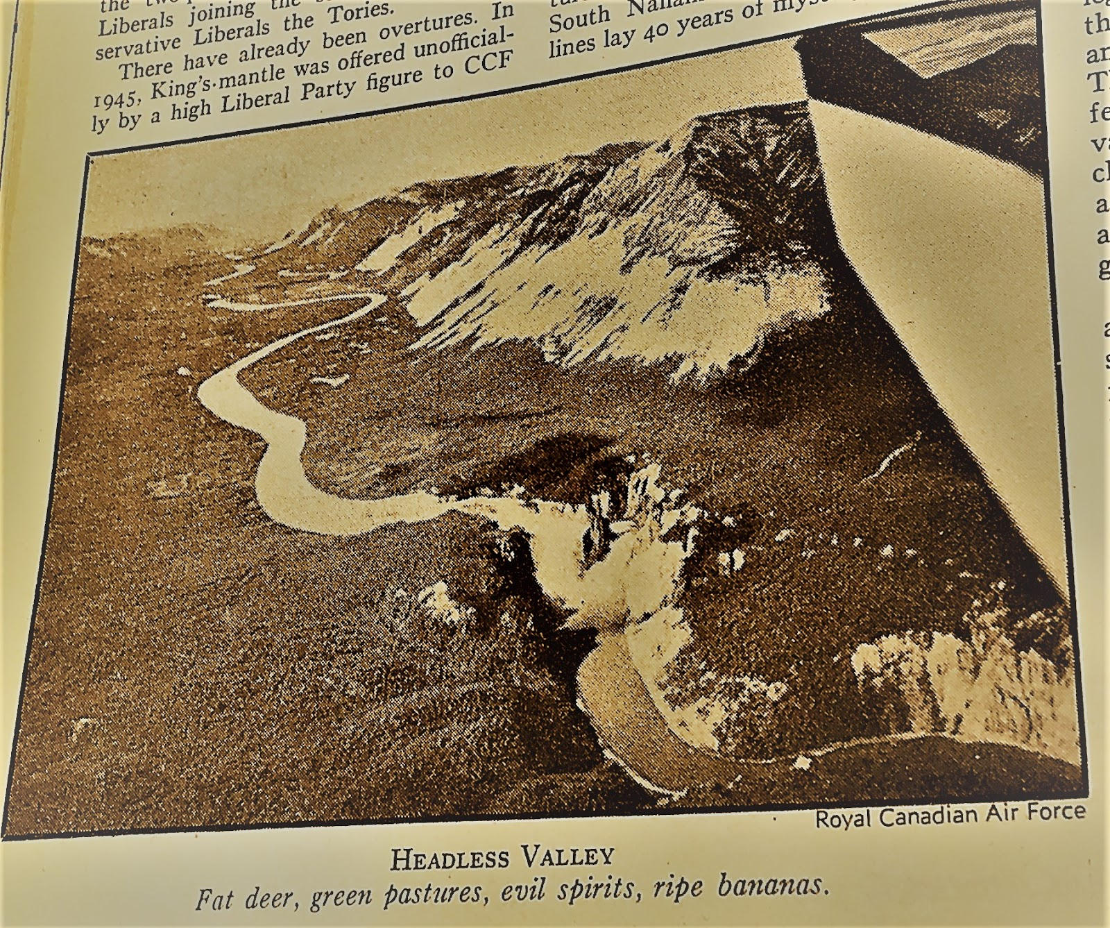 valleys of the yukon full of gold nahanni since it is apparently not a howling arctic wilderness due to hot springs why not go the whole hog and
