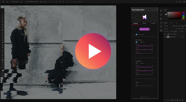 Glitch Vandalizer - Photoshop Plugin - 1
