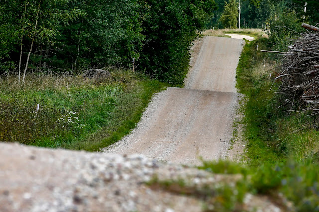 Jumps on rally stages in Estonia