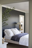 Black wooden panel to make accent wall