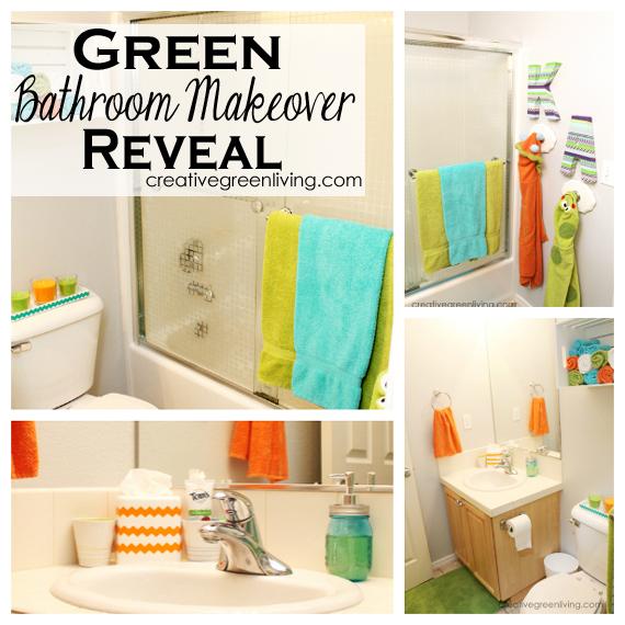 Guest 1 2 Bathroom Ideas: Green Kids & Guest Bathroom Makeover