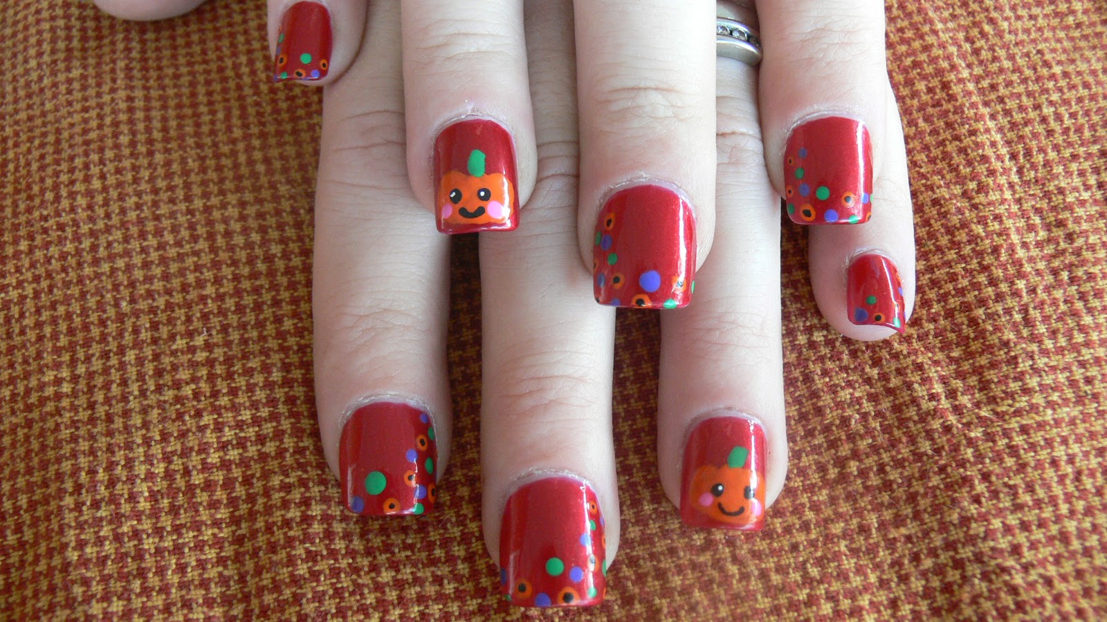 Cre8tiveKtina's Crafty Endeavors: Cute/Kawaii Pumpkin Nail ...