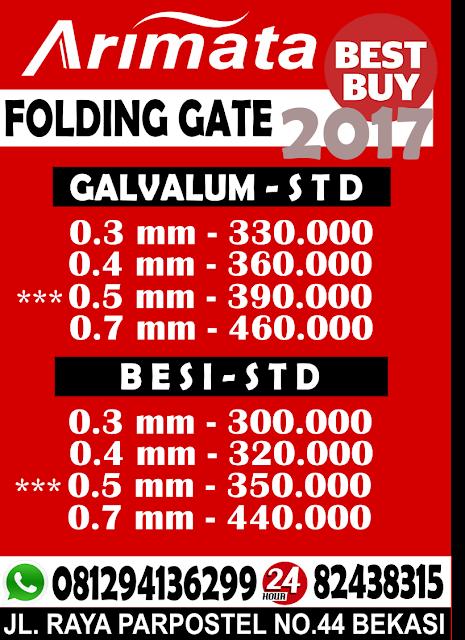 gambar harga folding gate di pekayon