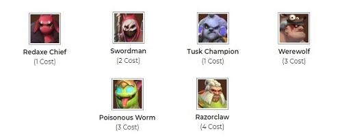 Qua thời điểm giữa trận, người chơi đã biết được khả năng thắng đối với Warrior - Beast