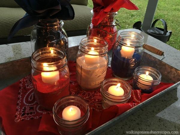 Patriotic Candle Centerpiece