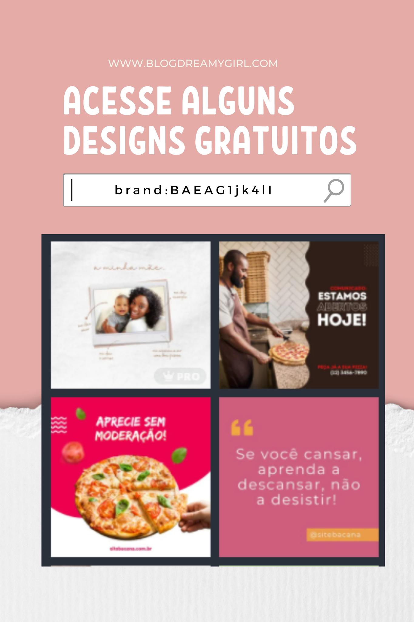 Designs do Canva para divulgar seus serviços
