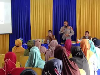 Kapolsek Idi Rayeuk Daulat Sosialisasi Vaksinasi Di SMKN 1 Idi