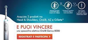 Logo Concorso Men MBCI Oral B'' vinci 16 spazzolini Genius 8000