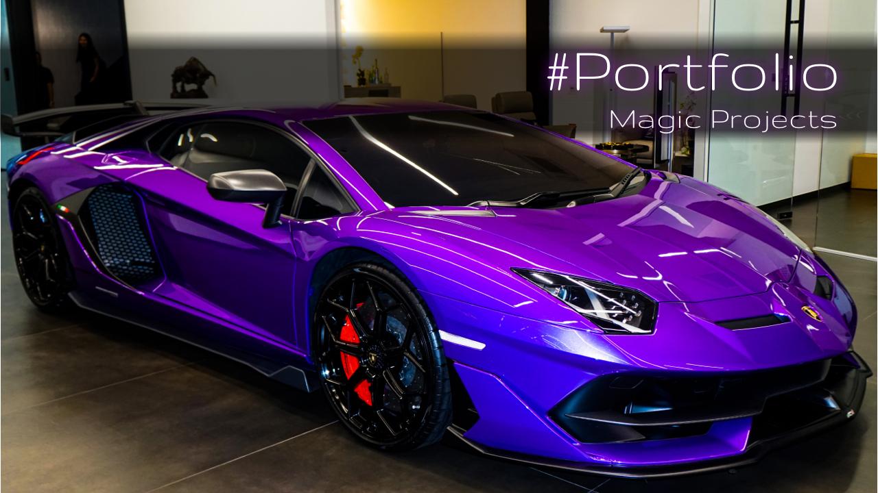 Purple Lamborghini in Bangkok