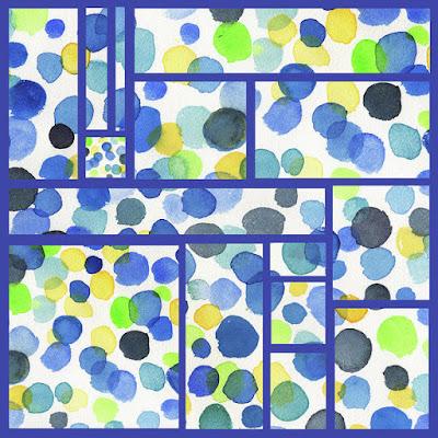 Polka Dots Design Blue For Merchandise Bestseller