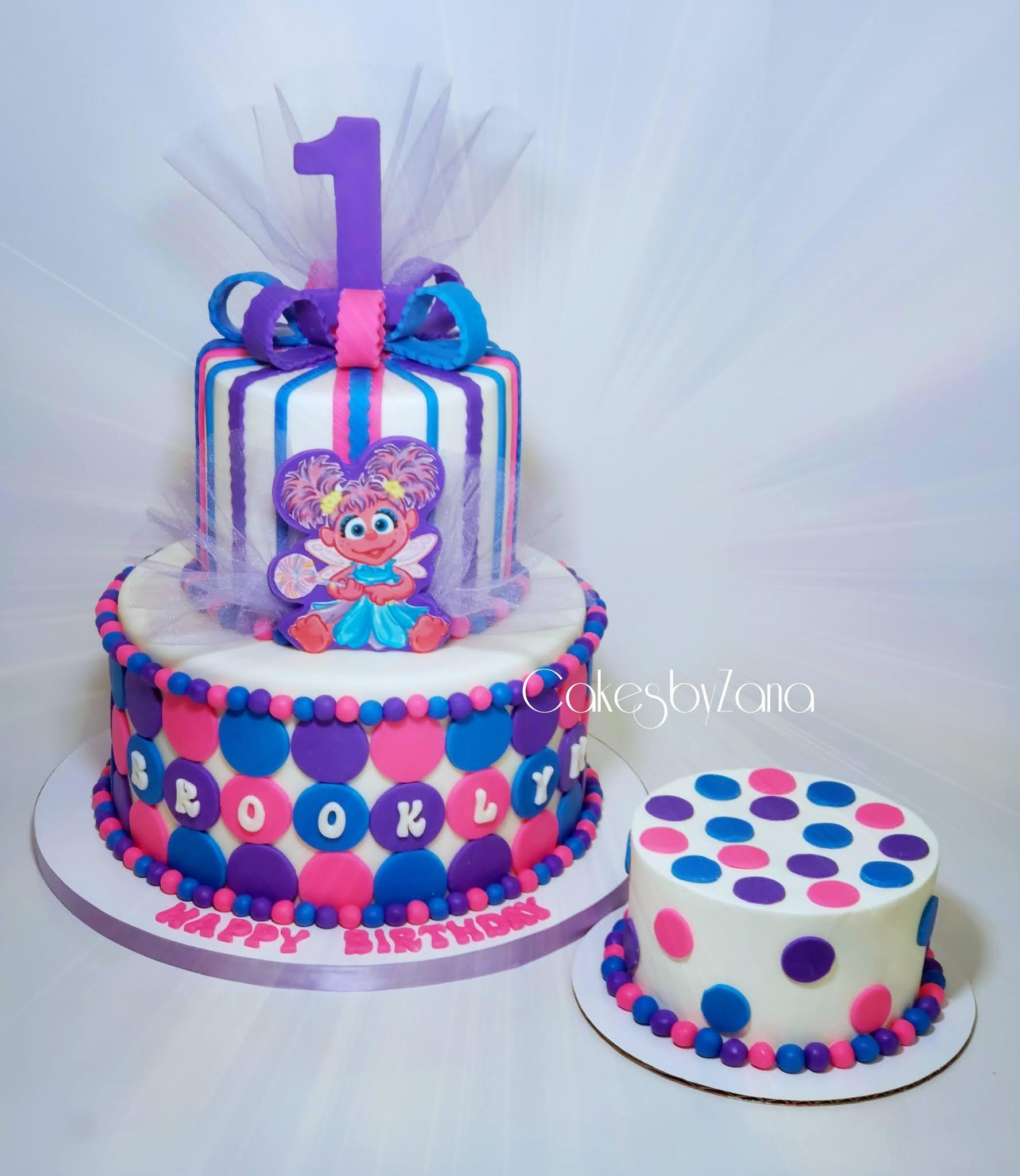 Cakesbyzana Abby Cadabby 1st Birthday Cake Smash Cake