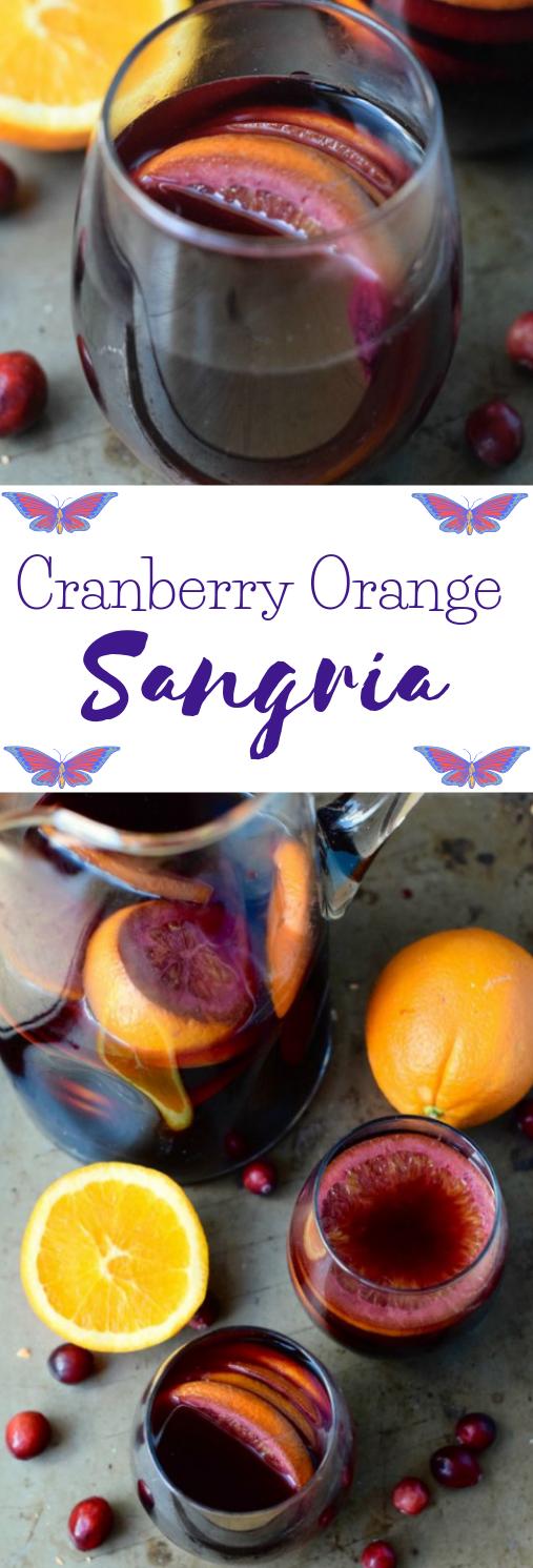 CRANBERRY ORANGE SANGRIA #sangria #drink #healthy #cranberry #orange