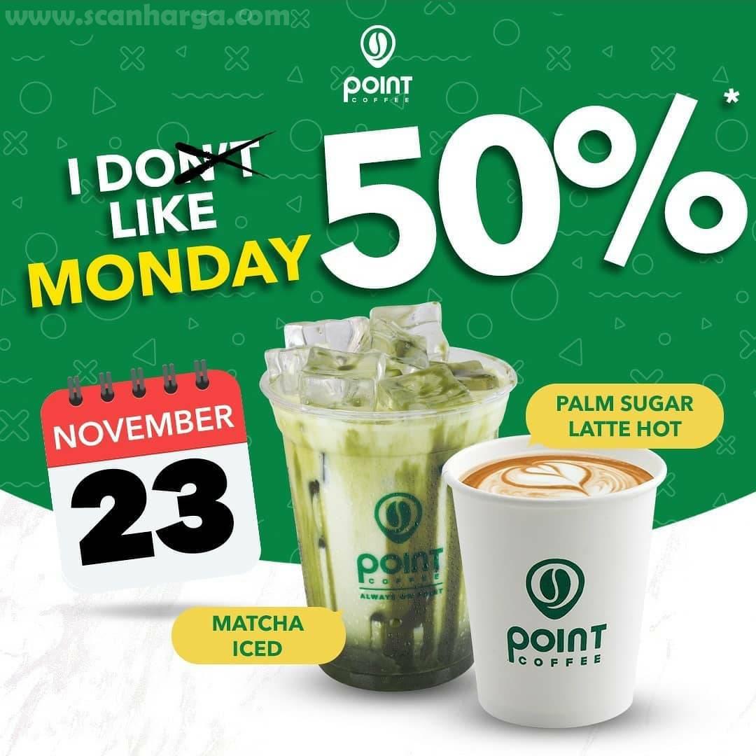 Point Coffee Promo I Like Monday Tiap Senin Diskon 50% Periode 23 November 2020