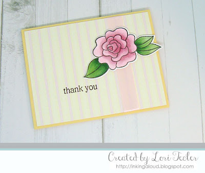 Wavy Rose Thank You card-designed by Lori Tecler/Inking Aloud-stamps and dies from Altenew