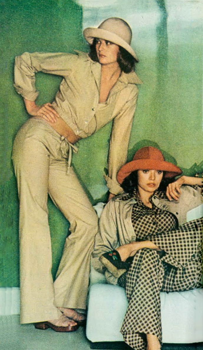 Yves Saint Laurent Rive Gauche in Vogue US February 1972 via www.fashionedbylove.co.uk british fashion blog
