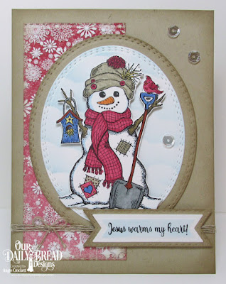 Our Daily Bread Designs Stamp/Die Duos: White As Snow,  Custom Dies: Oval Stitched Rows, Double Stitched Rectangles, Double Stitched Pennant Flags, Pennant Flags, Clouds & Raindrops, Paper Collection:  Snowflake Season