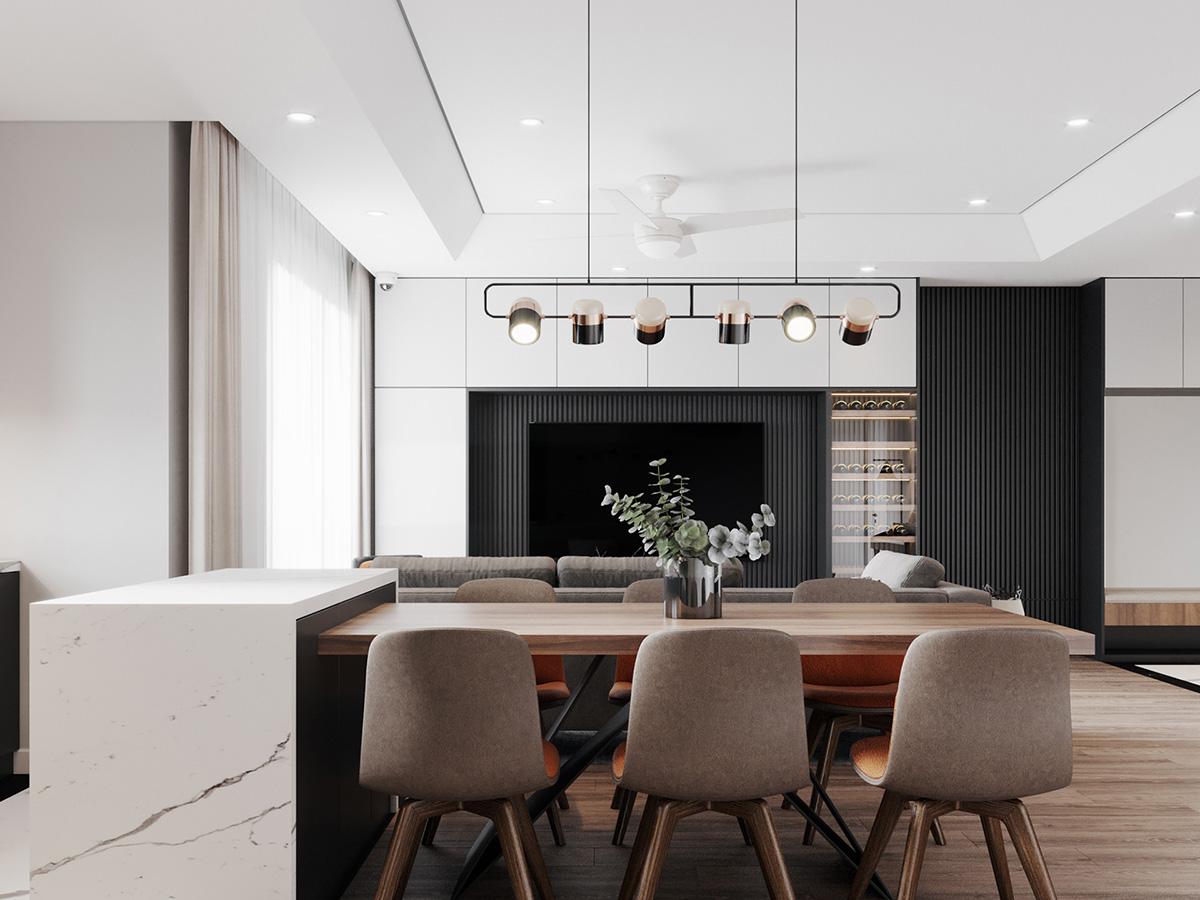Thiết kế nội thất căn hộ Imperia Sky Garden