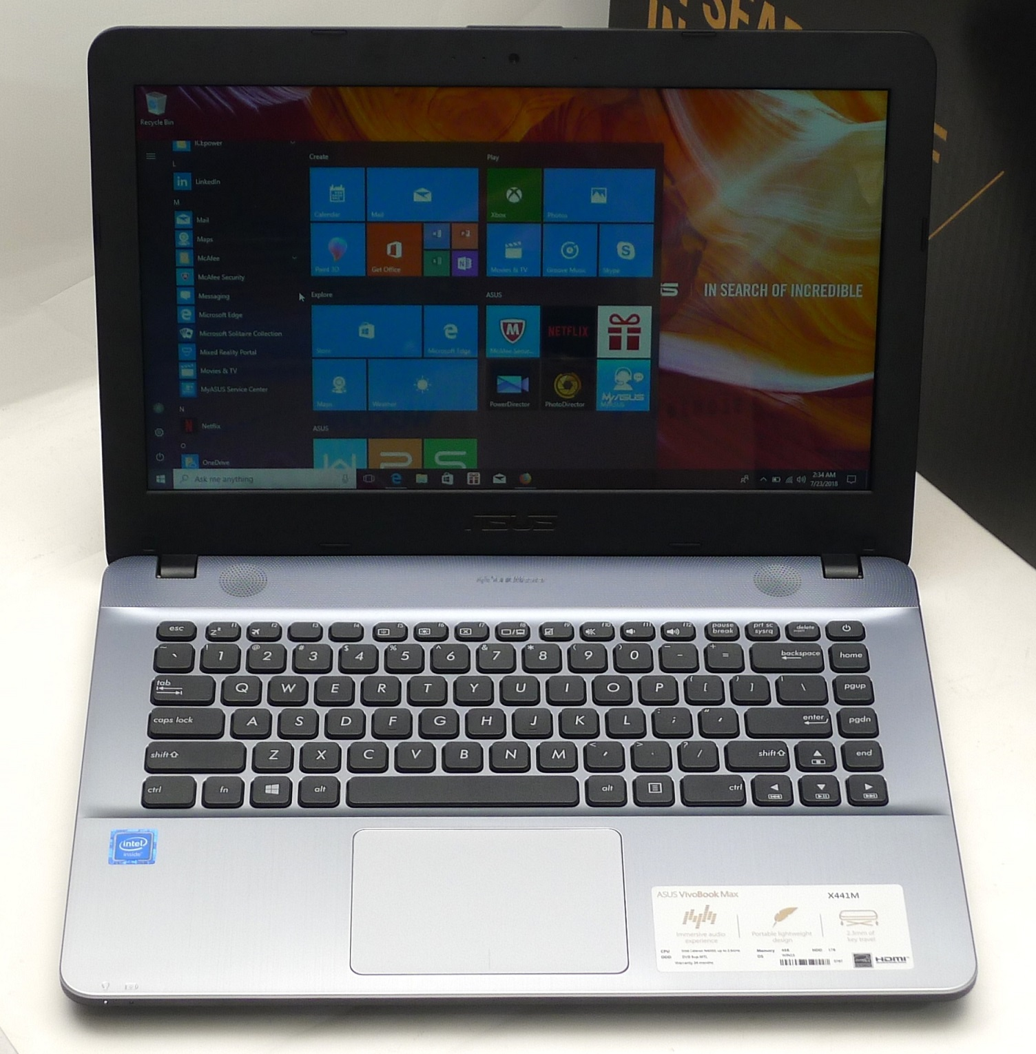 Laptop ASUS X441M Second Fullset Di Malang Harga