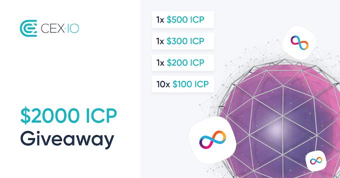 شارك وادخل السحب مجانا على 2000 دولار من عملة ICP مع CEX