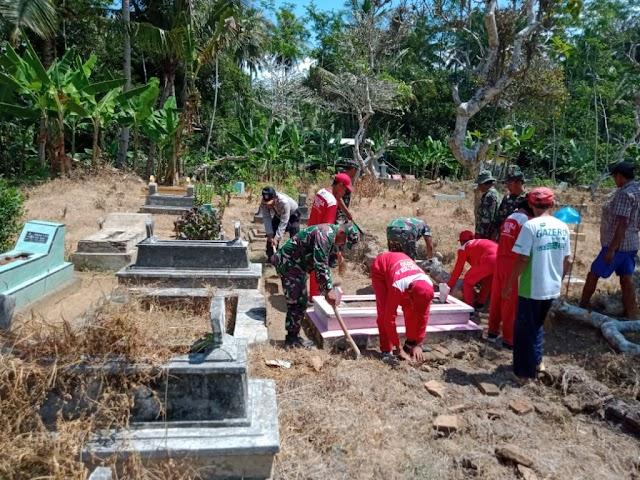 Mengenang Jasa Pahlawan Paskibraka Kecamatan Tempursari Ziarah Makam Pejuang