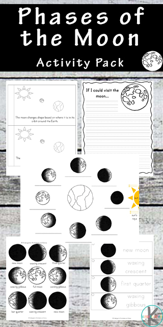 FREE Moon Worksheets for Kids - This 45 page free printable pack is great for not only teaching preschool, kindergarten about moon phases, but also includes activities to practice counting, i spy, pre-writing pages and more. These activities will make learning about the moon and our solar system FUN! #moonworksheets  #freeworksheets #kindergarten
