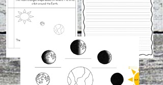 Kindergarten Worksheets and Games: FREE Moon Phases Worksheets