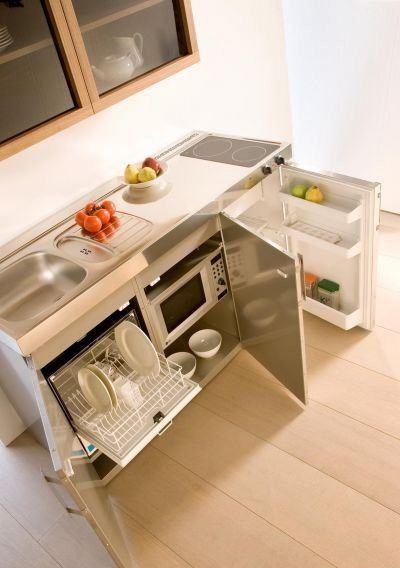 Imagem decoralia for Cocinas empotradas modernas para espacios pequenos