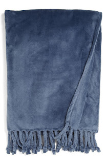 kennebunk blue throw for gift