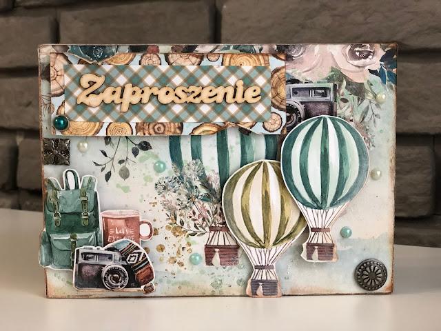 Kartka na 45 Urodziny i Pudełko na Zaproszenie