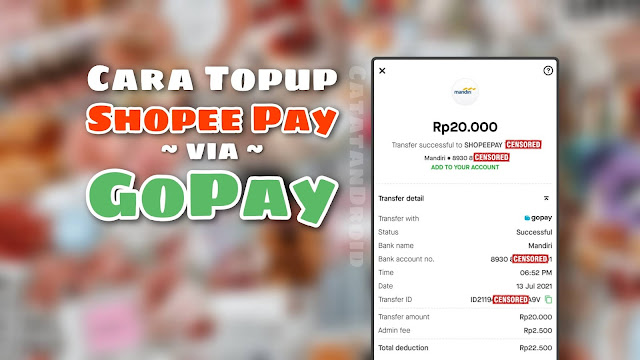 Cara Topup Saldo Shopee Pay via Gopay Terbaru