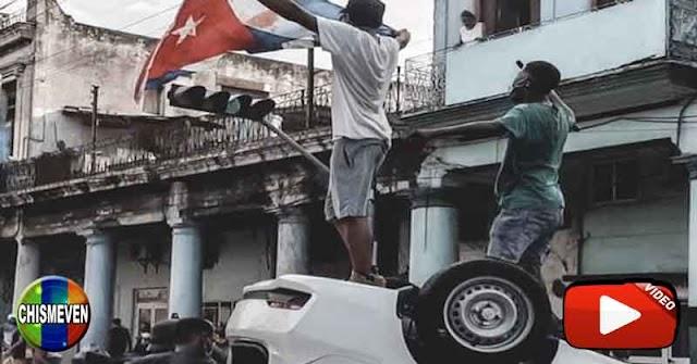 Cubanos llegaron hasta el Capitolio en La Habana para tumbar a su dictador