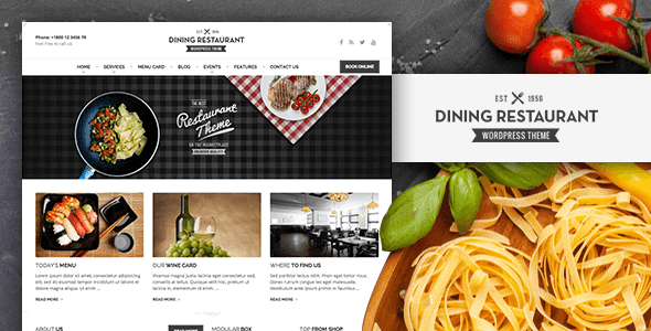 Dining Restaurant WordPress Template