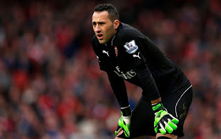 Arsenal goalkeeper David Ospina on Valencia radar