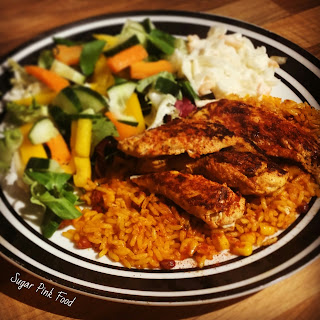 Slimming World Friendly Recipe Sweet Chilli & Mango Chicken Breast & Spicy Rice