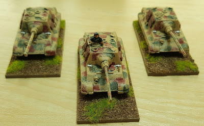 1943 onwards,  3 x Jagdtigers