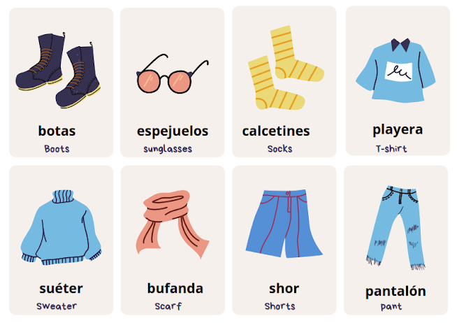 clothes in Spanish