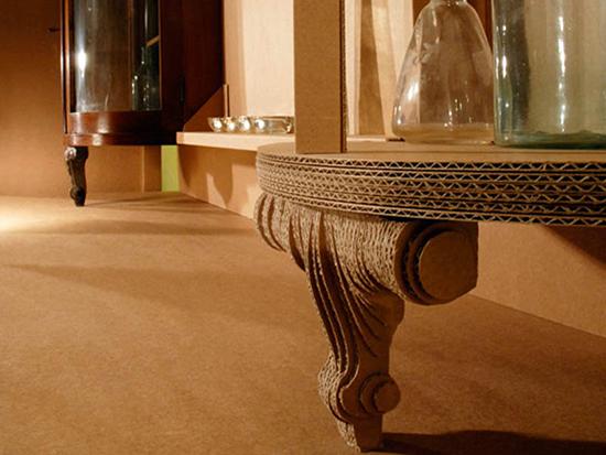 desain meja unik dari bahan alternatif