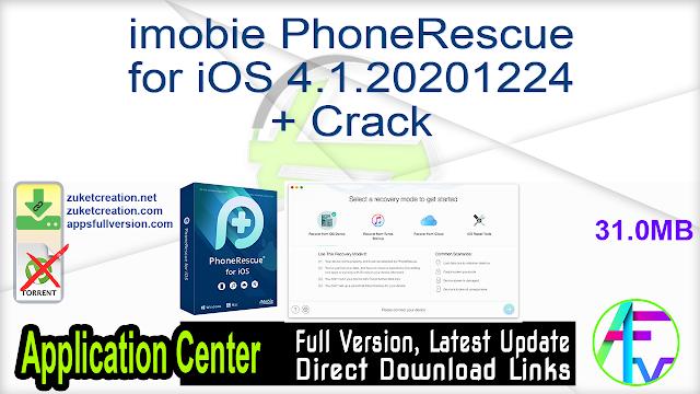imobie PhoneRescue for iOS 4.1.20201224 + Crack