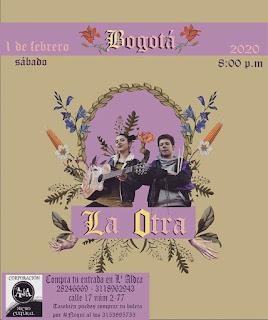 """Concierto de """"LA OTRA"""" en Colombia"""