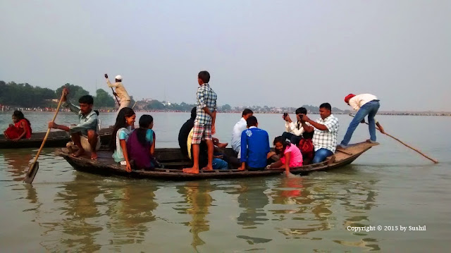 While Puja & Rituals of Chhath are going on, People finds the way to enjoy, Dehri on Sone, Bihar