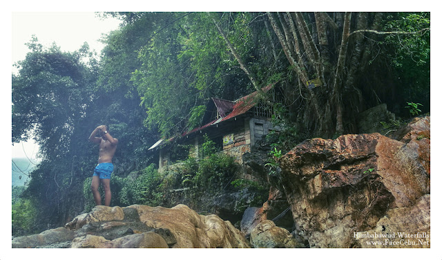 FaceCebu Blogger, Mark Monta in Himbabawud Waterfalls in Barangay Bonbon, Cebu City