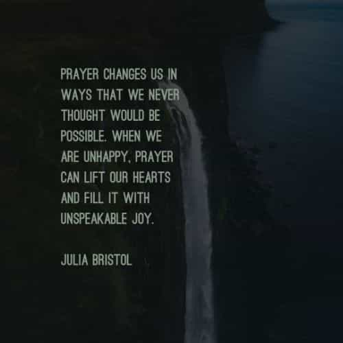 Power of prayer quotes and inspirational prayer sayings