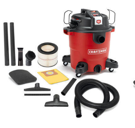 SEARS - Craftsman XSP 12 Gal. 5.5 HP Wet/Dry Vac Set $69.99