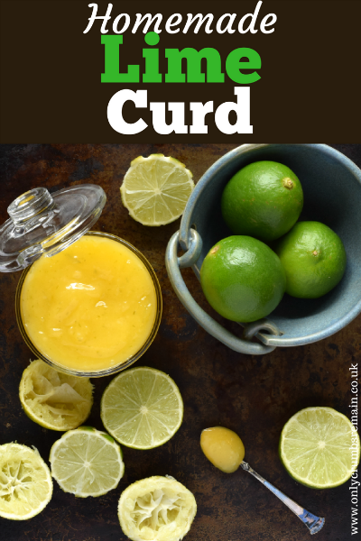 Find out how to make homemade lime curd.  It can be used in just the same way as lemon curd by topping a round of toast with it, using it as a filling for a Swiss roll or Victoria Sandwich Cake, or as a secret filling in some cupcakes.  It would also make a lovely edible gift.