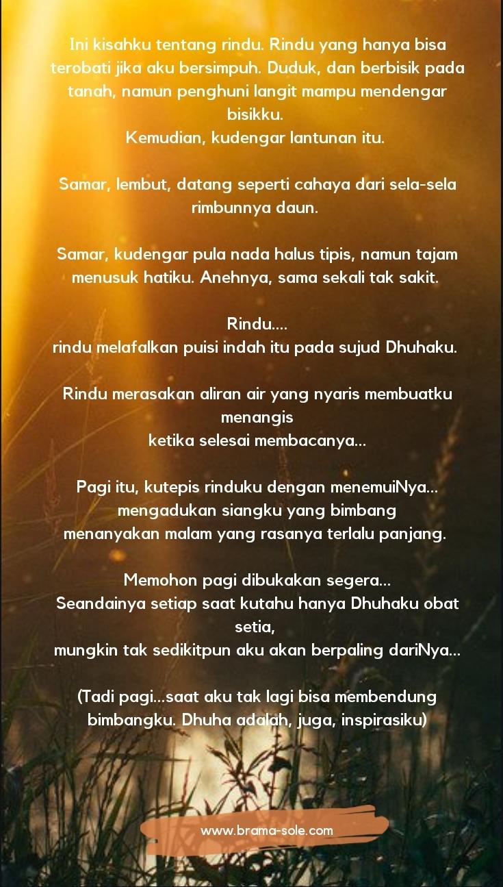 Puisi Tentang Saat Dhuha