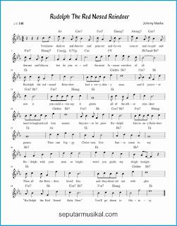 chord rudolph, the red-nosed reindeer lagu jazz standar