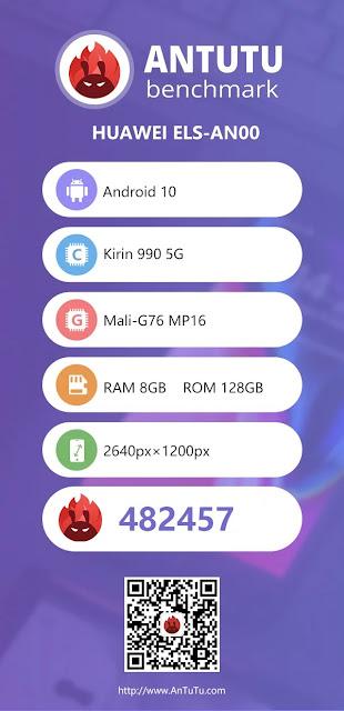 Huawei P40 Pro AnTuTu'da 482457 puan aldı