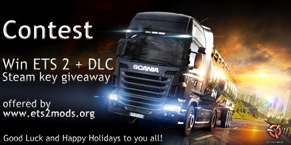 ETS2 + DLC - Steam Key Giveaway