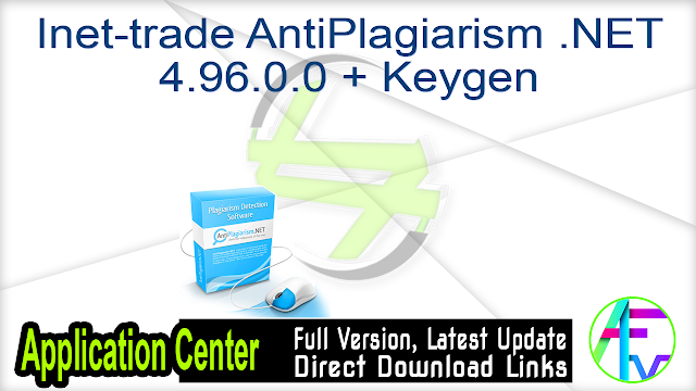 Inet-trade AntiPlagiarism .NET 4.96.0.0 + Keygen
