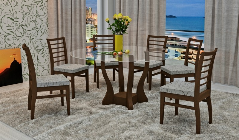 Sala De Jantar Com Tampo De Vidro ~ Mesa de vidro para sala de jantar  Toda Atual